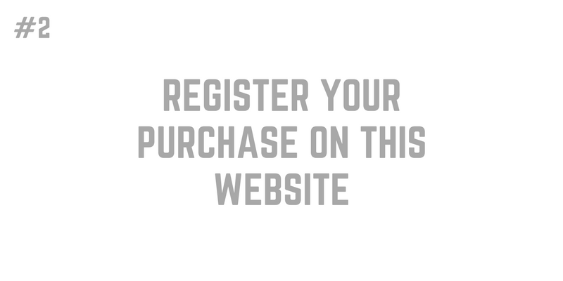 2. Register your purchase on this website (1)